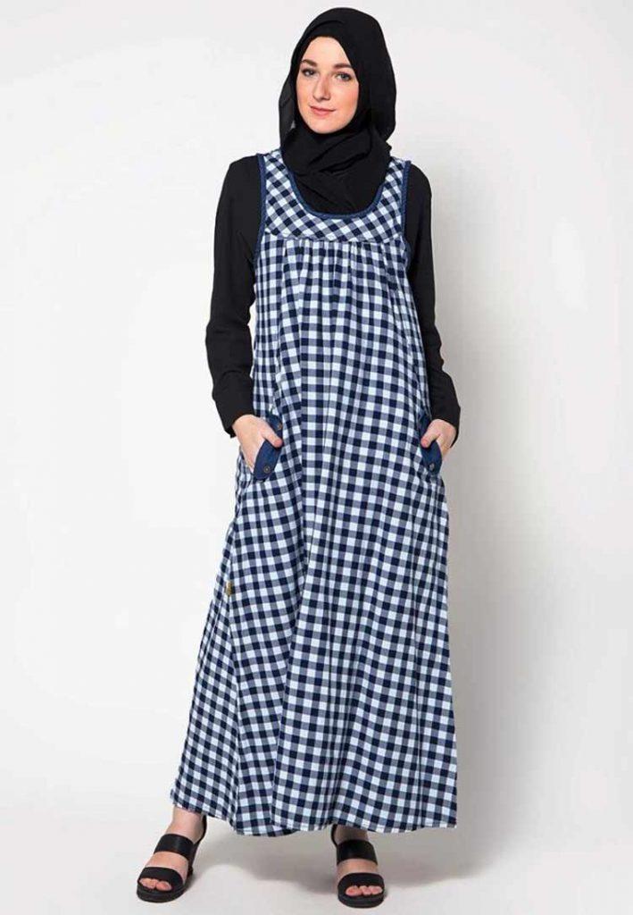 Gamis Terkini Sweet Maxi Dress Untuk Anda Pecinta Monokrom