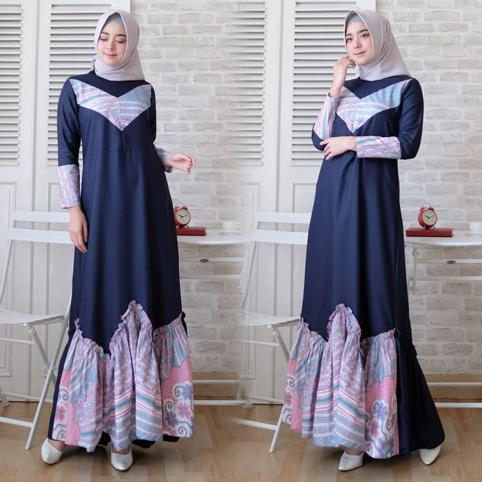 Model baju Muslim Terbaru Bermotif Cantik