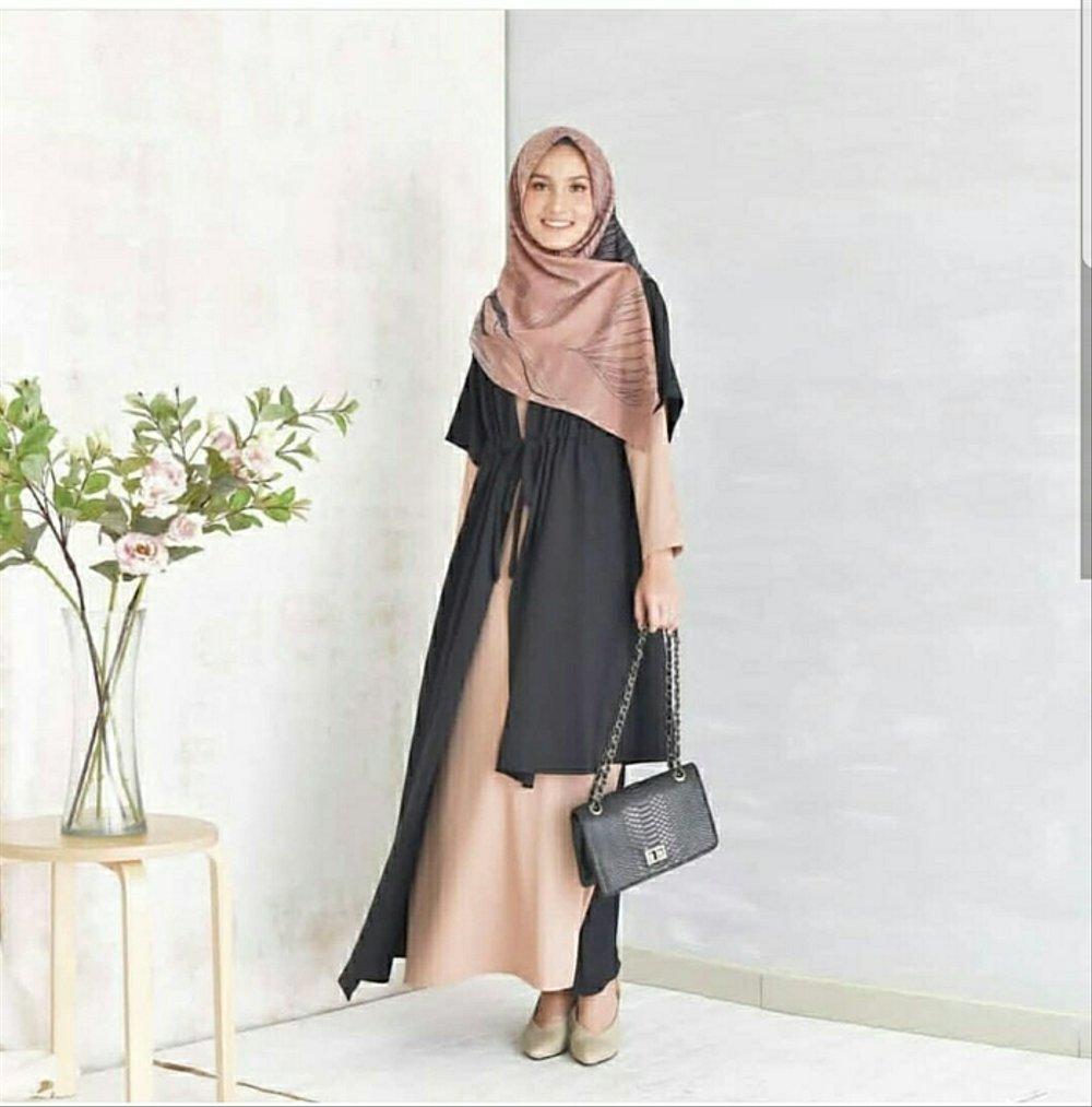 Model baju Muslim Terbaru Polos dengan Paduan Warna Lembut