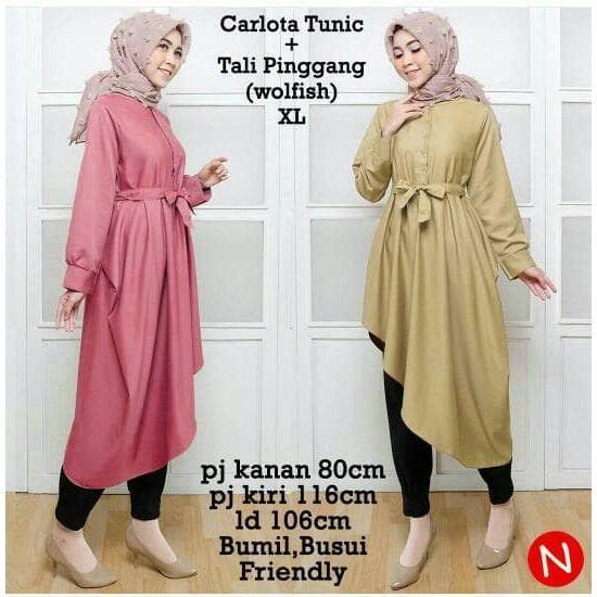 Busana Muslim Model Tunic Panjang