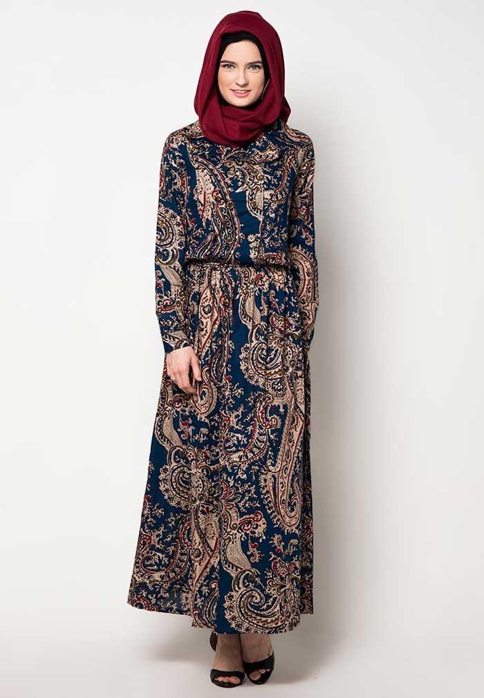Model Baju Syari Pesta Motif Batik