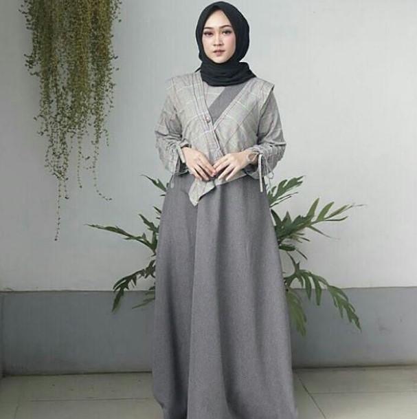 Model Baju Syari Pesta konsep Kimono Cantik