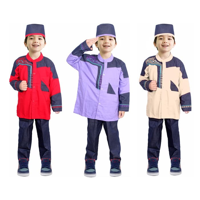 baju koko anak berbagai warna