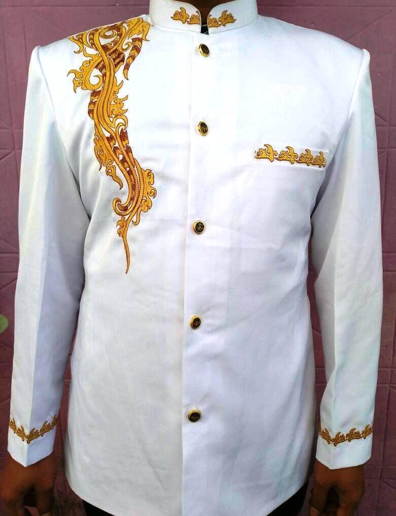 baju koko lengan panjang kombinasi batik
